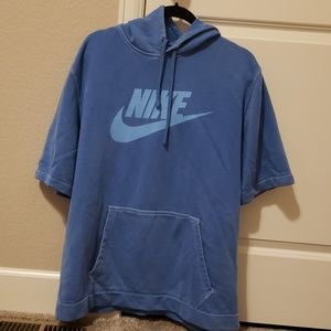Nike Short Sleeve Hooded Work Out Top